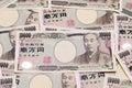 Background with japanese money Royalty Free Stock Photo