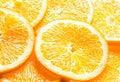 Background of juicy orange slices Royalty Free Stock Photo