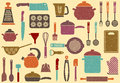 Background with kitchen ware Royalty Free Stock Photos