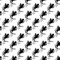 Background with knight on a horse. Royalty Free Stock Photo