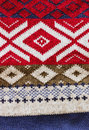 Background from knitted material with a national ornament backgrounds and textures Royalty Free Stock Images