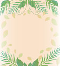 Background with leaves and fern vector vegetation eps Royalty Free Stock Image