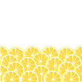 Background with lemon fruity seamless slices Royalty Free Stock Photo