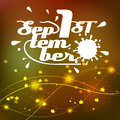 Background lettering the first of september in vector format eps Stock Images