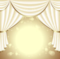 Background with light drapes for presentation something Royalty Free Stock Photography