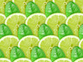 Background of lime slices and green leaf Royalty Free Stock Photo