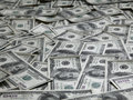 Background with lots of american one hundred dollar bills Royalty Free Stock Photography