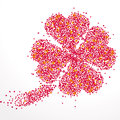 Background with lots of hearts small as a big shamrock Stock Photos