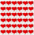 Background made of glass tiles with hearts Stock Image