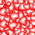 Background made of hearts Stock Photo
