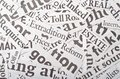 Newspaper clippings Royalty Free Stock Photo