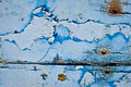 Background made from withered wood boards of with peeling blue paint Royalty Free Stock Image