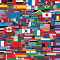 Background made from world flags vector template this is file of eps format Stock Image