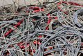 stock image of  Background of used electrical cables in a dump