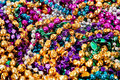 Background of mardi gras beads Royalty Free Stock Photography