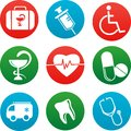 Background with medicine icons and elements Stock Photos