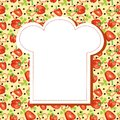 Background menu bitter sweet pepper parsley blank space chef s hat text Royalty Free Stock Images