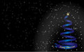 Background merry christmas and blue christmas tree white text Royalty Free Stock Photography