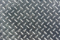 Background of metal diamond plate in silver color Stock Image