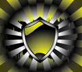 Background with metal shield Stock Photos