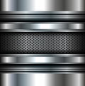 Background metallic vector silver Stock Photography