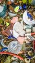 Broken Pottery - Potsherd - Background Royalty Free Stock Photo