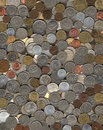 Background of miscellaneous coins Stock Photography