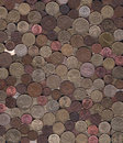 Background of miscellaneous copper coins Royalty Free Stock Photos