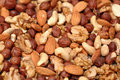 Background of mixed nuts. Royalty Free Stock Image