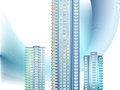 Background with modern city buildings Royalty Free Stock Photo
