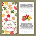 Background with multicolor autumn leaves. Vector illustration