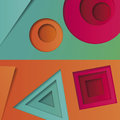Background of multicolored abstract  in the style of material design with geometric shapes of different sizes. Multilayer ci Royalty Free Stock Photo
