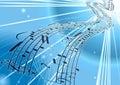 Background music sheet vector Στοκ εικόνες με δικαίωμα ελεύθερης χρήσης