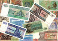 Background of Myanmar kyat money bills Royalty Free Stock Photos