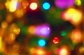 Background natural red blur abstract christmas with selective focus Stock Images