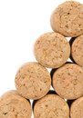 Background of new champage corks. Royalty Free Stock Photo