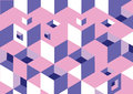 Background nonexistent cubes of pink mauve purple Stock Image