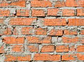 Background of an old brick red wall Royalty Free Stock Photo