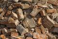 Background of old destroyed bricks Royalty Free Stock Photo