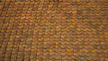 Background old orange roof tiles vinteage tile Stock Images