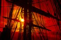 Background -   old sailing ship rigging Royalty Free Stock Photo