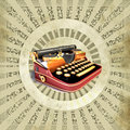Background with old typewriting machine Stock Photos