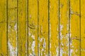 Background with old wooden yellow painted planks Royalty Free Stock Photo