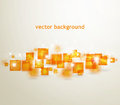 Background with orange squares vector Royalty Free Stock Photo