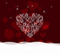 Background with ornament heart by valentines day love romantic decoration for design Royalty Free Stock Image
