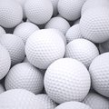 Background is out of golf balls d render Royalty Free Stock Images