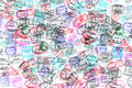 Background of passport stamps Royalty Free Stock Photo