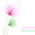 Background with pastel flowers on white Stock Image