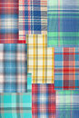 Background patchwork plaid fabric Royalty Free Stock Images