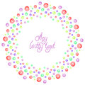 Background pattern border frame with colored bubbles Royalty Free Stock Photo